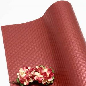 Single-sided Pearlescent Embossed papers, Dark red, 78cm x 54cm, 1 sheet, (UAV0028)